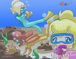 AT - Scuba Princesses by SugarJem