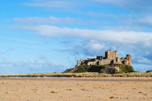 Bamburgh sand level by LowWinterSun08