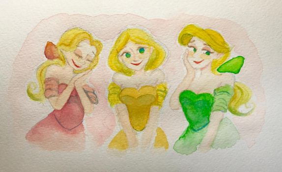 Gaston Girls(doodle) by poipoi39