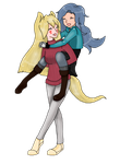 Fui and Lyric: Sister's Forever by monsterlord-18
