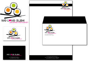 We Love Sushi - Black Brand by lilithStyle
