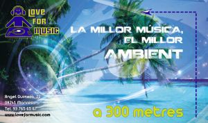 Cartel ubicacion Love for music by tonetto17