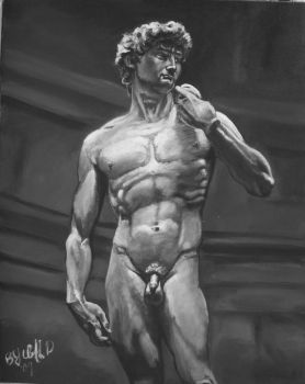 david in stone a painting by cliford417