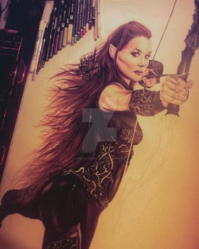 Tauriel colored ver WIP 2 by ChrisStoner