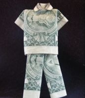 Money Origami: Suit by Kyara-Rune