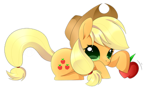 MLP - Chibi Apple Jack by haydee