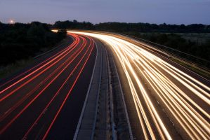 Motorway at Night - 1 by fruitycube