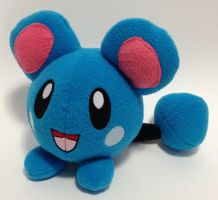 Pokemon - Azurill custom plush by Kitamon