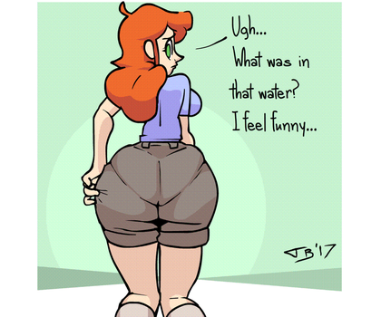JAW: Booty Growth Animation by Just-Add-Water99