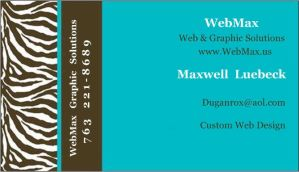 Webmax.us Business Card by Duganrox