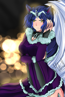 Midnight Ahri by CuteAiko0