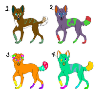 Adoptables! *open* by scatteredSparks