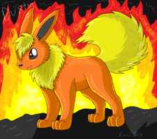 Dusty the Flareon by racingwolf