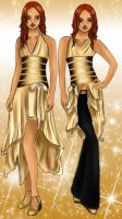 Apollo and Artemis in Gold by evalesco5