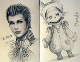 Sketches - Final Fantasy XII by Sadako-xD