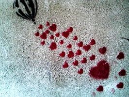 Hearts on the wall2 by JustGeorgie