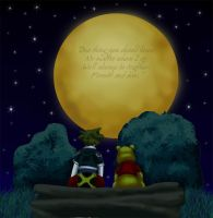 Sora n' Pooh - Under the Moon by ColdEnigma