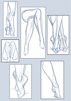 pose study / legs and foots by hel78