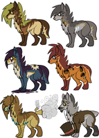 scene dog adopts - steampunk - closed by oceanewolfe