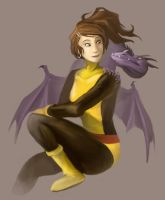 X-Men - Shadowcat and Lockheed by EmpressHelenia