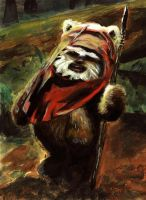 ewok by cartoonbushi