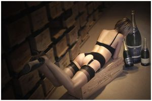 nylons and champange by Nylony-pl
