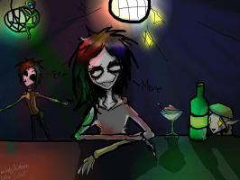 Hard party in the club by Lady-Holdren