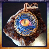 Dragon Eye Amulet - Intuition by JenstoneCreations