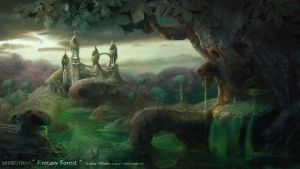 Landscapes part one: Fantasy Forest by MOSKUITO