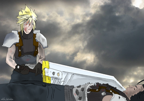 Cloud and Zack by Zoubakin