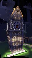 Clock Tower--Made by Zackalisin25 by MinecraftPhotography