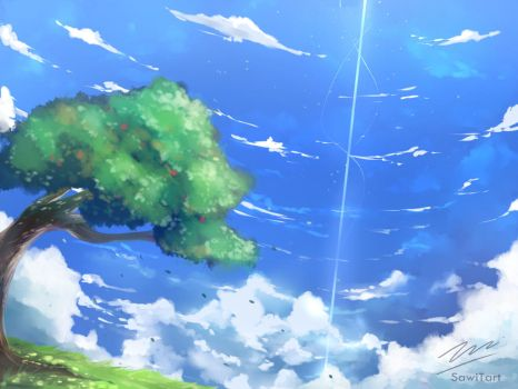 Sky and Tree by SawiTart