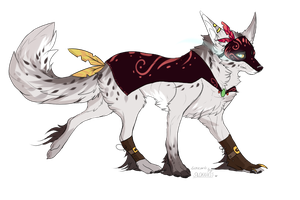 Masquerade Wolf Auction!: CLOSED by SwashbuckIer