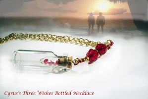 Cyrus's Three Wishes in a Bottle Necklace by KouranKiyo