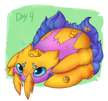 Day4: itsy bitsy spider by Umbraling