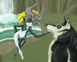Faron Woods: Midna and Link by modesty
