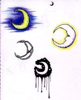 4 Moons by isnevertimeatall