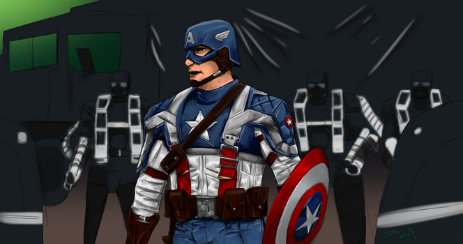 Day 288-Captain America by Dan21Almeida95