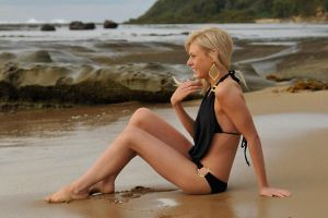 Shay - black swimsuit seated 1 by wildplaces