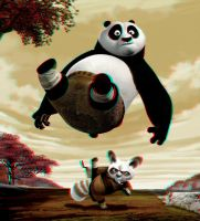 Po and Shifu 3-D conversion by MVRamsey