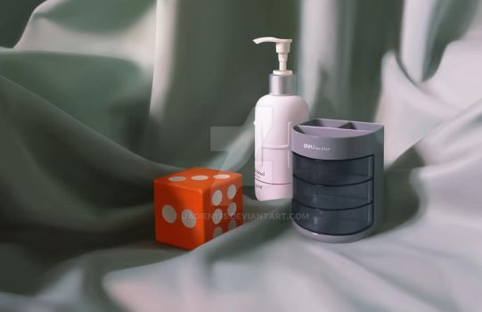 Digital Painting 3 objects by Jadien195