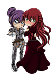 PC. Queen Agni  and Lady Louann 1 by Oceanmermaid