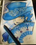 Blue hat by Yukimy