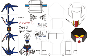 freedom gundam pattern by Grim-paper