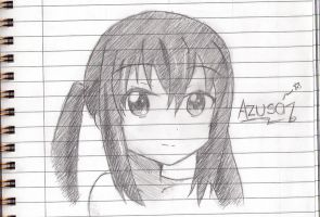 Azusa doodle by azure2526