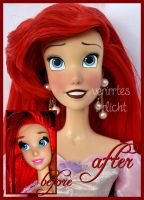 repainted ooak singing ariel doll. by verirrtesIrrlicht