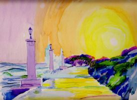 Adriatic Coast Watercolour by 80sdisco