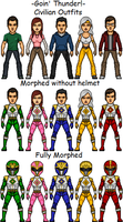 Mighty Morphin' Thunder Rangers by SpiderTrekfan616