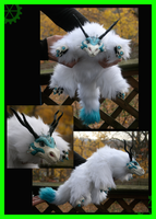 Arctic Snow Dragon Doll by DArtJunkie