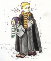 Gryffindor vs Slytherin by spottedhyenae